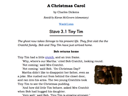 a christmas carol stave summaries