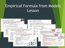 Empirical Formula from Models Lesson