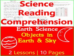 Earth Science Reading Comprehension Passages | Objects in the Sky | Grade 3-4