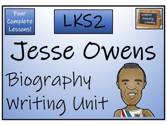 LKS2 History - Jesse Owens Biography Writing Activity