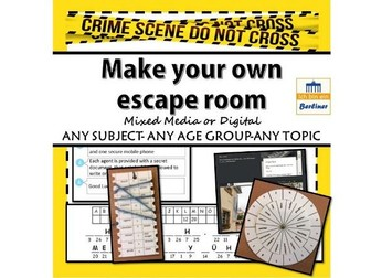 Make your own escape room - revision, end of  term or just to keep them motivated