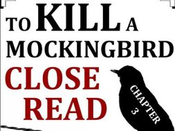 To Kill a Mockingbird Close Reading Worksheet (Chapter 3; ACT Prep)