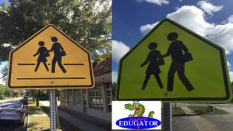 Dollar Stock Photos - School Crossing Signs