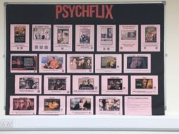 'Psychflix' Psychology Display. (Films/boxsets that are related to topics in psychology)