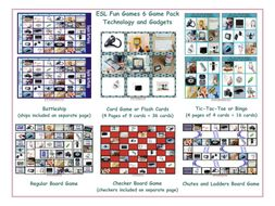 Technology and Gadgets 6 Board Game Bundle