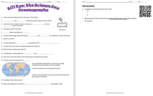 Bill Nye Oceanography Video Worksheet Teaching Resources