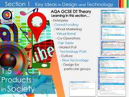 AQA GCSE DT 1.5 Products in Society