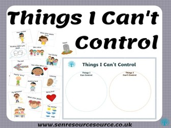 Things I can and cannot control