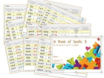 Phonics for SEN: Book of Spells 3 - Spelling Practice Books - sh  th  ng  ch  k  qu  f  l  s