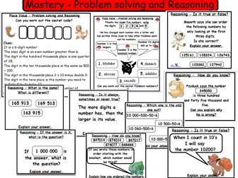 Place Value Year 5  Fluency,  Problem Solving and  Reasoning