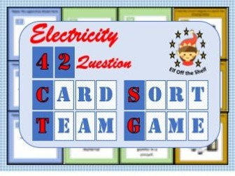 Current Electricity -42 Question Card Sort Team Game  KS3