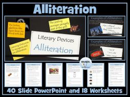 Alliteration: PowerPoint and Worksheets