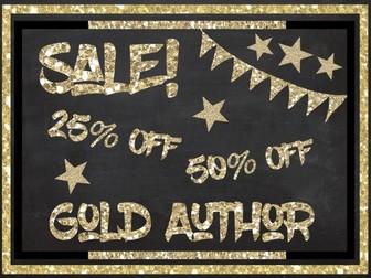 Gold Author Design Clipart