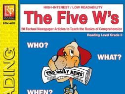 Five W's (Reading Level 3)