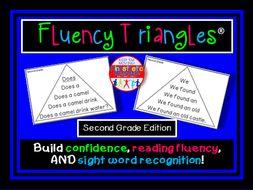 Reading Fluency - Fluency Triangles® Second Grade Sight Words
