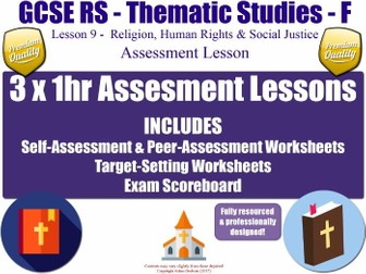 Religion, Human Rights & Social Justice - Assessment Materials [AQA GCSE RS - L9/10] Theme F (KS4)