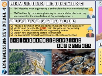 Engineering - Introduction and Disciplines/Sectors