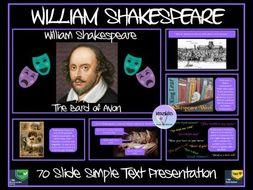 William Shakespeare Presentation
