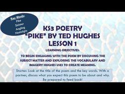 Pike - Ted Hughes - Poetry - KS3 - KS4