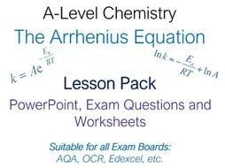 A-Level Chemistry Arrhenius Equation