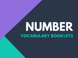 Number Vocabulary Booklets