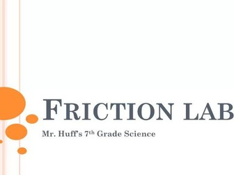 Factors That Affect Friction Lab - VIDEO