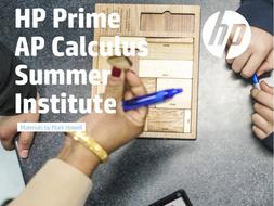 HP Prime AP Calculus Summer Institute Materials