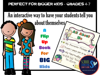All About Me - Back to School Activity - Fun for grades 3-6