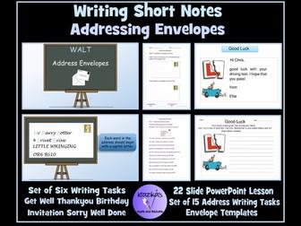 English Functional Skills: SEN Resource: Addressing Envelopes and Note Writing