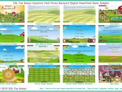 Causative Verb Forms Barnyard English PowerPoint Game