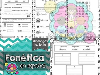 Spanish Phonics Book Set #13: Diptongos io, iu, ie