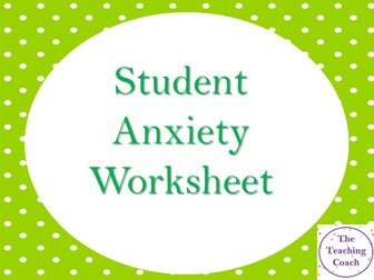 Anxiety Check In Board Worksheet - Worries and Negative Thoughts