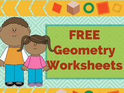 FREE Colorful Printable Geometry Worksheets - Grade 3 & Grade 4 by ...