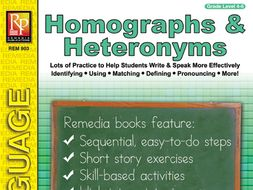 Homographs & Heteronyms