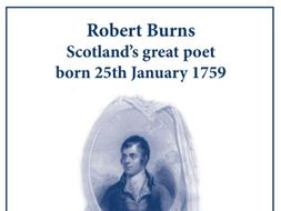 Burns Night (25 January) Robert Burns Poetry Lesson