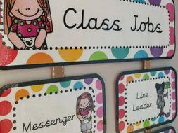 class jobs hanging chart rainbow pop by monsterteachingideas