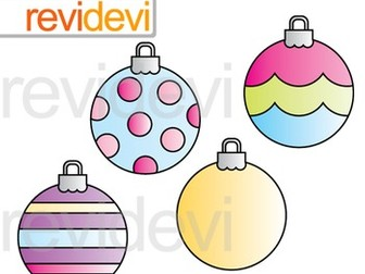 Free Clipart / Christmas Ornaments Round Shape Clip Art (set of 4)