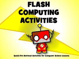 Computer Science Flash Activity Sheets