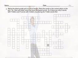 Present Simple Tense with Question Words Framework Crossword Worksheet