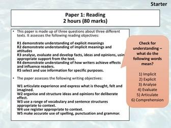 Cambridge IGCSE 0500 - Overview of Language Paper 1