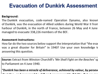 Dunkirk Source Assessment