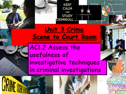 Criminology (NEW SPEC)-Unit 3-AC1.2 Investigative Techniques-Lesson PP & Activities
