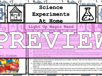 Science Home Experiment - Magic Wand