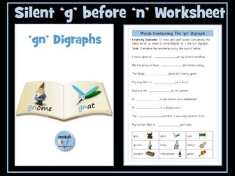 Silent 'k' and 'g' in 'kn' and 'gn' words - 'kn' and 'gn' Digraphs