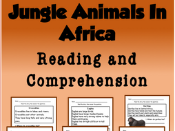 Jungle Animals in Africa Reading and Comprehension