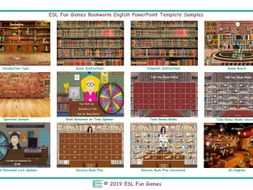 Bookworm English PowerPoint Game Template-An Original by ESL Fun Games