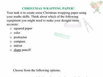 creative christmas maths