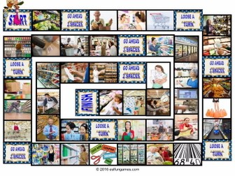Shopping at Supermarkets Animated Board Game