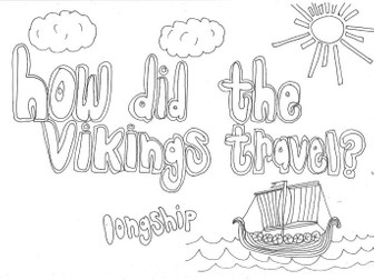 How did the Vikings Travel? (History) Colouring Page