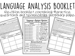 Language Analysis: 20 Page Revision Booklet by